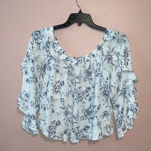 American Eagle Roses Floral Blouse NWT Size XL